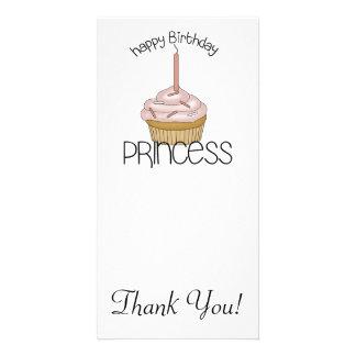 Happy Birthday Princess Personalized Photo Card