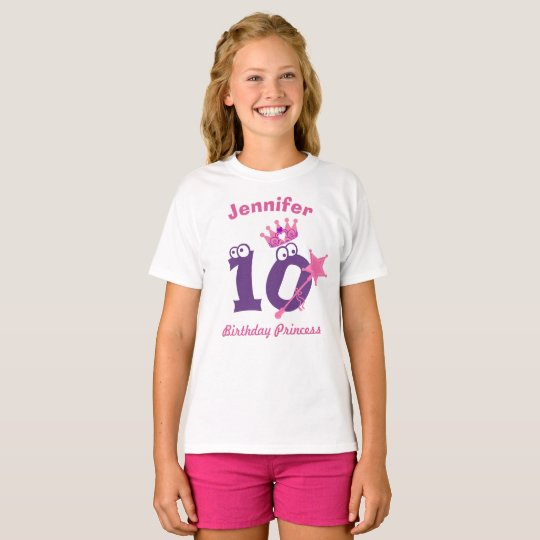 Happy Birthday Princess T-shirt 10 to 19