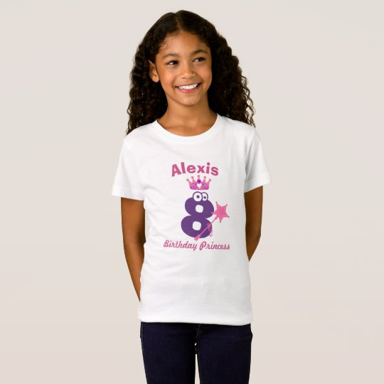 Happy Birthday Princess T-shirt 5 to 9