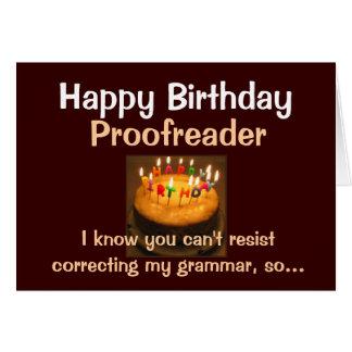 Happy Birthday Proofreader Card