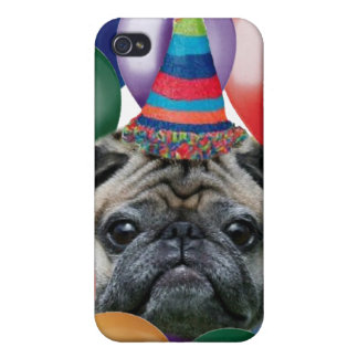 Happy birthday Pug dog iphone 4 speck case Cover For iPhone 4