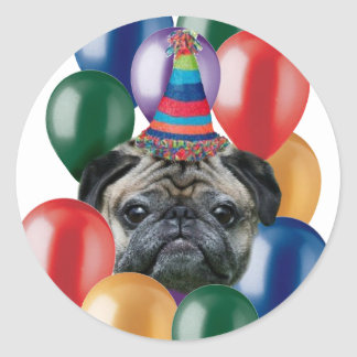 Happy birthday Pug dog Stickers