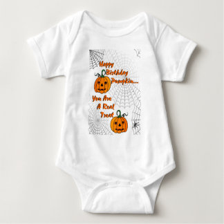 Happy Birthday Pumpkin Baby Bodysuit