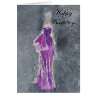 Happy Birthday (purple dress) Greeting Card