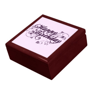 Happy Birthday Purple Swirls Gift Box
