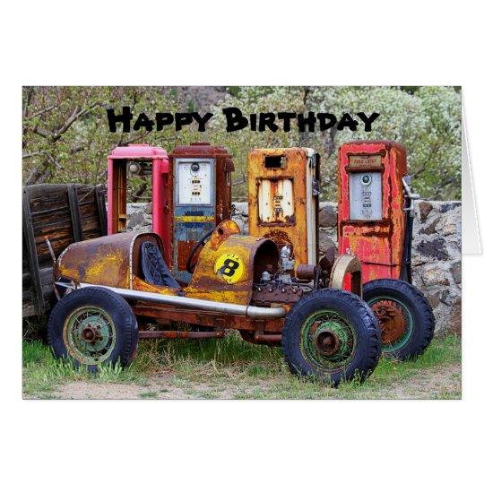 Happy Birthday Race Car Humour Card
