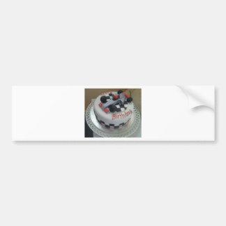 happy birthday racing car bumper sticker