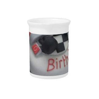 happy birthday racing car drink pitcher