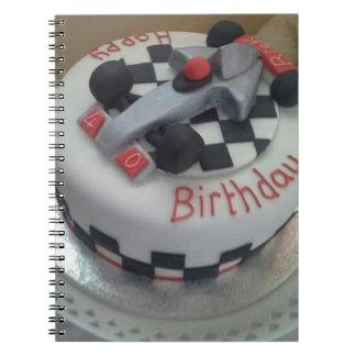 happy birthday racing car notebook