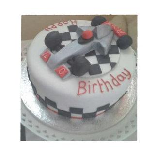 happy birthday racing car notepad