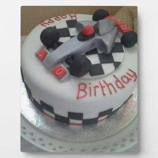 happy birthday racing car plaque