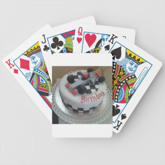 happy birthday racing car poker deck