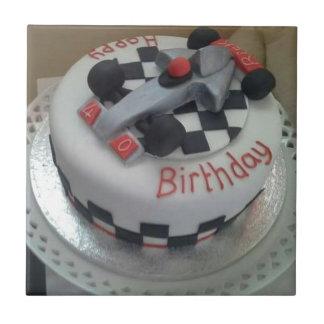 happy birthday racing car tile
