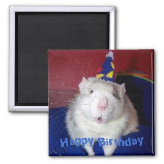 Happy Birthday Rat Magnet