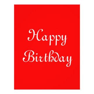 Happy Birthday Red and White Custom Flyer
