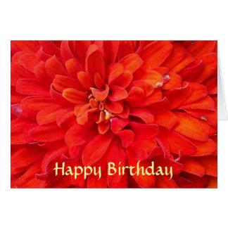 Happy Birthday red flower petals Card