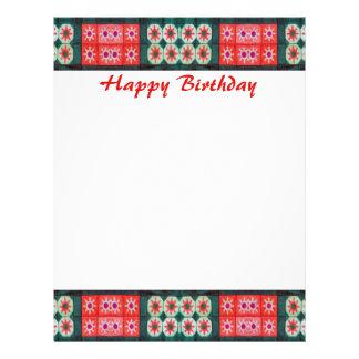Happy Birthday Red Teal 21.5 Cm X 28 Cm Flyer