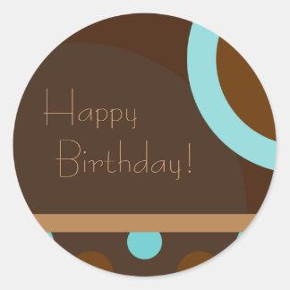 Happy Birthday! Retro 103 Round Sticker