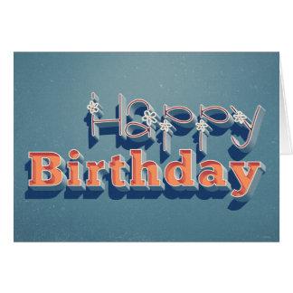 Happy Birthday-Retro-Cheery as Flowers, Sunshine Greeting Card