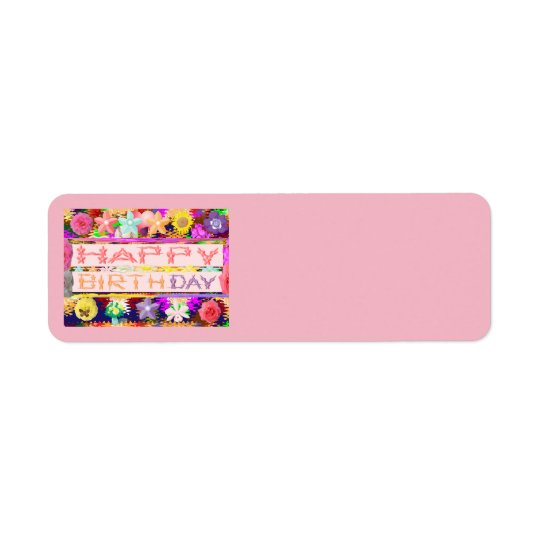 HAPPY Birthday Return Address Labels