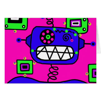 Happy Birthday Robot Card