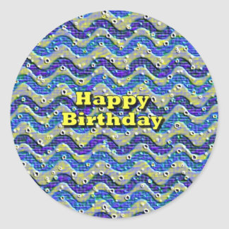 Happy Birthday Round Sticker