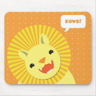 Happy Birthday Rowr Lion Mouse Pad