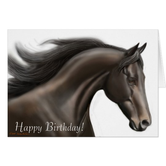 Happy Birthday Running Horse Card