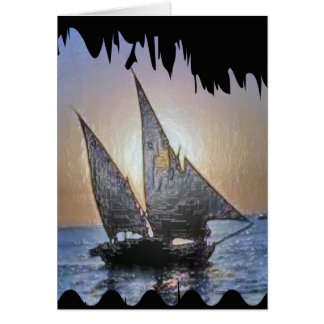 Happy Birthday :  Sail Voyage Trip Card