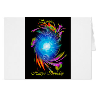 Happy Birthday Scorpio Card