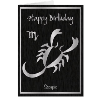 Happy Birthday Scorpio Horoscope Elegant Card