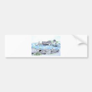 happy birthday seascape bumper sticker