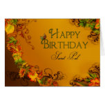 HAPPY BIRTHDAY SECRET PAL - AUTUMN LEAVES GREETING CARDS