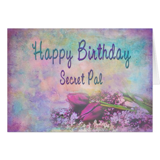HAPPY BIRTHDAY SECRET PAL - Soft Floral Elegance