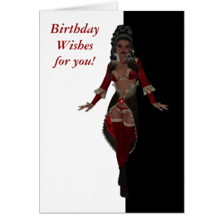 Happy birthday Sensual African American woman Greeting Card