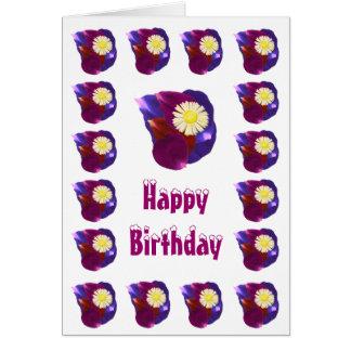 Happy Birthday - Sensual Flower Rose Petals Note Card