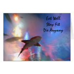 Happy birthday shark humour greeting card