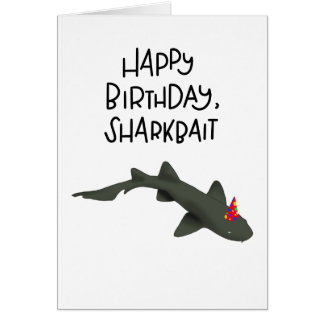 Happy Birthday Sharkbait card