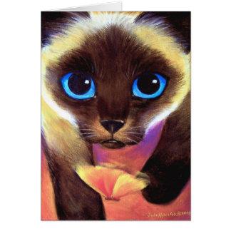 Happy Birthday Siamese Cat, Christmas Cards, Etc. Greeting Card