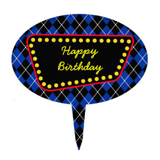 Happy Birthday Sign Cake Topper