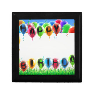Happy Birthday Sign Trinket Boxes