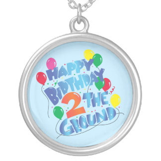 Happy Birthday Silver Plated Necklace