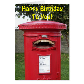 Happy Birthday Singing British Post Box Card