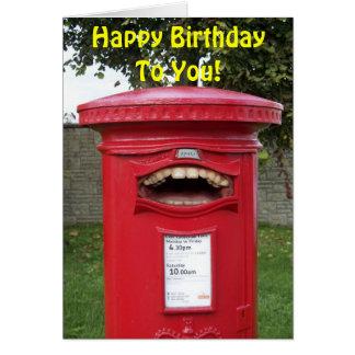 Happy Birthday Singing British Post Box Card