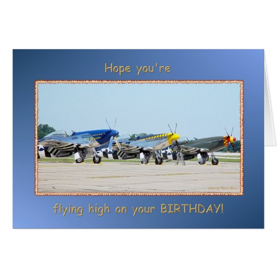 Happy Birthday Single Engine Aeroplanes Card