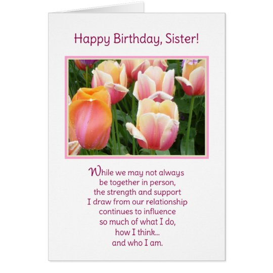 Happy Birthday, Sister! Card