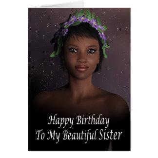 Happy Birthday Sister Pagan Greeting Card