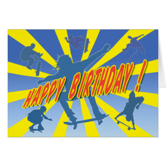 Happy Birthday Skateboarding Card