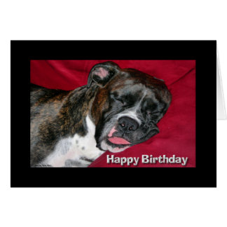 Happy Birthday Sleeping Boxer Card
