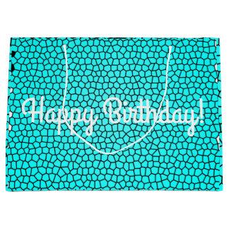 Happy Birthday Snake Print Birthday Bag